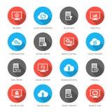 Accueil, serveur, base de données et calcul de nuage illustration stock