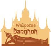 Accueil vers Bangkok illustration libre de droits