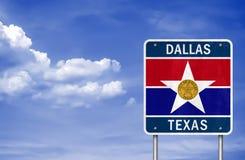 Accueil vers Dallas - Texas photographie stock libre de droits