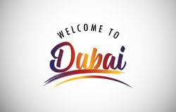 Accueil vers Dubaï illustration de vecteur