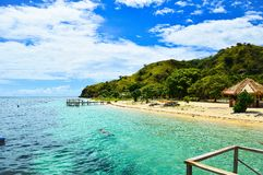 Accueil vers l'île de kanawa Photographie stock