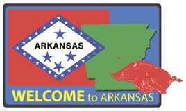 Accueil vers l'Arkansas Photo libre de droits