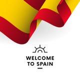 Accueil vers l'Espagne Drapeau de l'Espagne Vecteur illustration stock