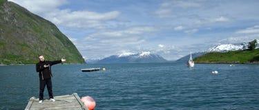 Accueil vers la Norvège Photos libres de droits