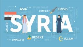 Accueil vers la Syrie illustration libre de droits