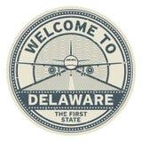 Accueil vers le Delaware, Etats-Unis Illustration de Vecteur