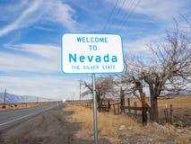Accueil vers le Nevada Photographie stock libre de droits