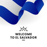 Accueil vers le Salvador EL Salvador Flag Conception patriotique Illustration de vecteur Photos libres de droits