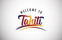 Accueil vers le Tahiti illustration de vecteur