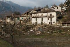 Accumoli-Dorf in Lazio zerstörte durch Erdbeben Stockfoto