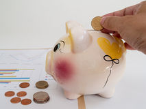 The accumulated money Royalty Free Stock Image