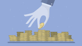 Accumulatie van kapitaal, het bewaren van fondsen vector illustratie