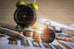 Accumulatie van toekomstige fondsen met de grafiek van de effectenbeursinformatie Royalty-vrije Stock Foto
