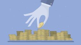 Accumulation of capital, saving of funds. Royalty Free Stock Photos