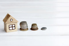Accumulation of funds for a new home Stock Photos