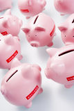 Accumulation Of Piggy Banks Stock Photos