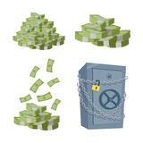 Accumulation and Saving Money concept Vector. Stock Photo