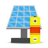 Accumulation solar energy Stock Image
