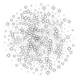 Accumulation of square Shapes Royalty Free Stock Images