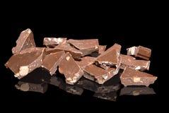accumulations de chocolat d'amandes images libres de droits