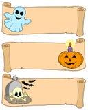 Accumulazione 1 delle bandiere di Halloween illustrazione di stock