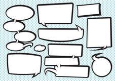 Accumulazione 2 della bolla di discorso del fumetto Immagini Stock Libere da Diritti