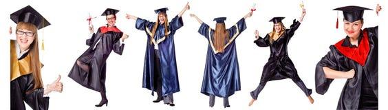 Accumulazione - allievo felice di graduazione. Immagini Stock Libere da Diritti