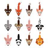 Accumulazione animale dei cursori Fotografia Stock