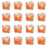 Accumulazione arancione 2 dell'icona Immagine Stock