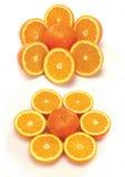 Accumulazione arancione affettata Fotografia Stock