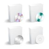 Accumulazione in bianco del dvd e della casella Fotografia Stock Libera da Diritti