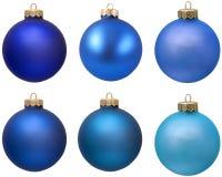 Accumulazione blu dell'ornamento di natale. Immagine Stock