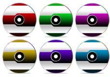 Accumulazione CD 1 del disco Immagini Stock
