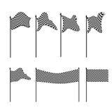 Accumulazione Checkered delle bandierine illustrazione vettoriale
