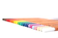 Accumulazione colorata delle matite Fotografia Stock