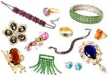 Accumulazione degli accessori femminili Fotografie Stock