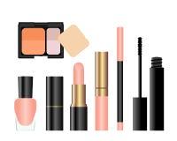 Accumulazione degli accessori femminili di bellezza. Fotografia Stock