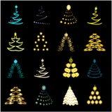 Accumulazione degli alberi di Natale illustrazione vettoriale