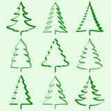 Accumulazione degli alberi di Natale Fotografia Stock Libera da Diritti