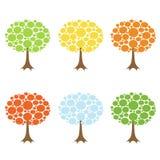 Accumulazione degli alberi di vettore Fotografie Stock Libere da Diritti