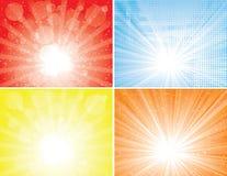 Accumulazione degli ambiti di provenienza del raggio di sole Fotografie Stock