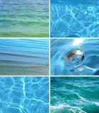 Accumulazione degli ambiti di provenienza dell'acqua Fotografie Stock