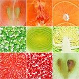 Accumulazione degli ambiti di provenienza della verdura e della frutta Immagini Stock Libere da Diritti