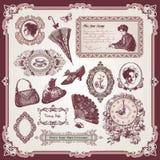 Accumulazione degli elementi dell'annata royalty illustrazione gratis