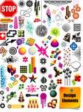 Accumulazione degli elementi di disegno Fotografie Stock