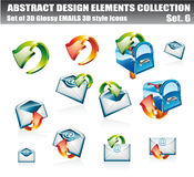 Accumulazione degli elementi di disegno dei email royalty illustrazione gratis