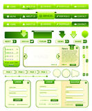 Accumulazione degli elementi di Webdesign Fotografia Stock