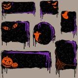 Accumulazione degli elementi grungy di disegno di Halloween Fotografia Stock Libera da Diritti