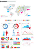 Accumulazione degli elementi infographic. Fotografia Stock