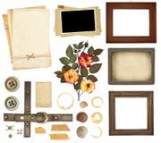 Accumulazione degli elementi per scrapbooking Immagine Stock